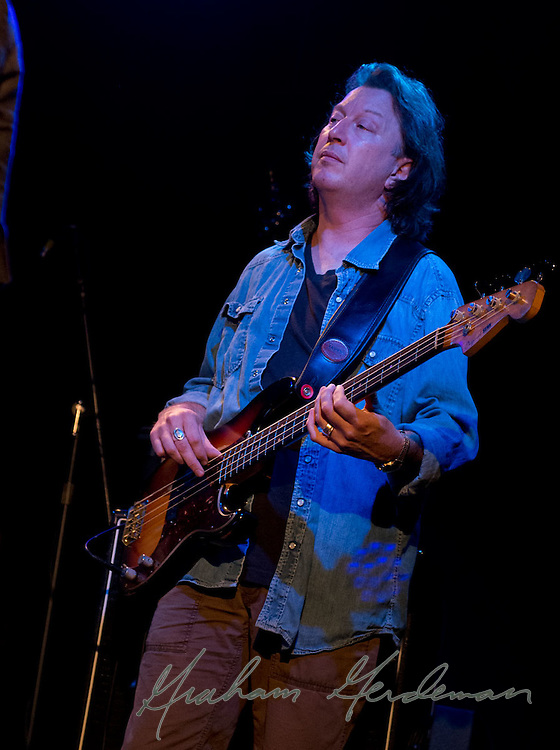 Bassist Steve Mackey of The Little Rippers performs at the Rutledge in Nashville, TN