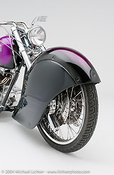 """""""Convertible Sled,"""" this convertible seemed more like two entirely different motorcycles. Tom Taylor helped with some of the rough pencil sketches. Appears in book """"The King of Choppers,"""" by Michael Lichter and Arlen Ness and foreward by Sonny Barger."""