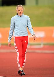 Sara Oresnik, 400m hurdles, at 4th Memorial of Matic Sustersic and Patrik Cvetan athletic meeting of Grand Prix Vzajemna, on June 1, 2009, in ZAK, Ljubljana, Slovenia. (Photo by Vid Ponikvar / Sportida)