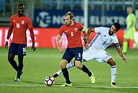Fotball , 5. september 2017 , U21 Norge - Israel<br /> Norway - Israel 0-0<br /> Iver Fossum ,  Norge<br /> Eliel Peretz , Israel