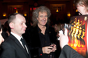 BRIAN MAY, Post Olivier Awards Gala party. Waldorf Astoria. London. 13 March 2011. -DO NOT ARCHIVE-© Copyright Photograph by Dafydd Jones. 248 Clapham Rd. London SW9 0PZ. Tel 0207 820 0771. www.dafjones.com.