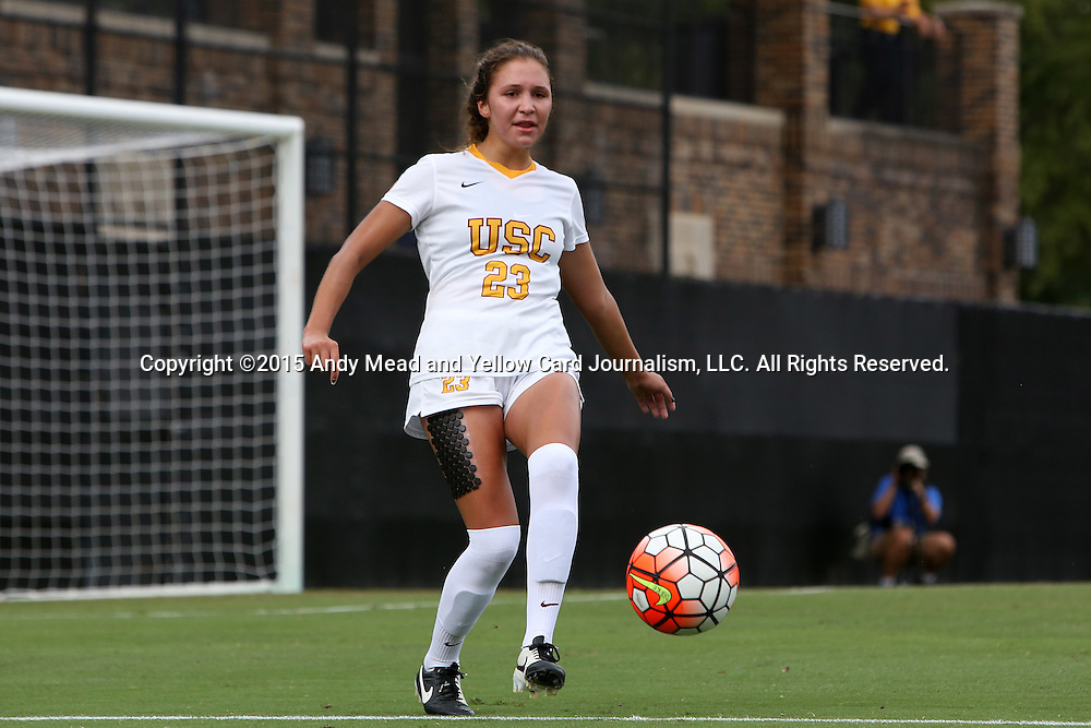 06 September 2015: USC's Ally Prisock. The University of North Carolina Tar Heels played the University of Southern California Trojans at Koskinen Stadium in Durham, NC in a 2015 NCAA Division I Women's Soccer match. UNC won the game 2-1.