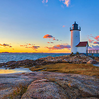 Massachusetts Annisquam Harbor Lighthouse in Gloucester, MA is an iconic New England lighthouse located on Cape Ann, north of Boston. This lighthouse photograph was captured shortly before sunset when the last light of the day painted landscape and seascape in bursting colors.<br /> <br /> Picturesque New England lighthouses photography are available as museum quality photography prints, canvas prints, acrylic prints, wood prints or metal prints. Fine art prints may be framed and matted to the individual liking and decorating needs:<br /> <br /> https://juergen-roth.pixels.com/featured/massachusetts-annisquam-harbor-lighthouse-juergen-roth.html<br /> <br /> Good light and happy photo making!<br /> <br /> My best,<br /> <br /> Juergen