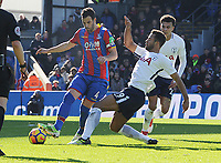 Football - 2017 / 2018 Premier League - Crystal Palace vs. Tottenham Hotspur<br /> <br /> Mousa Dembele of Tottenham and Luka Milivojevic, at Selhurst Park.<br /> <br /> COLORSPORT/ANDREW COWIE