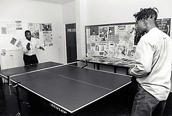Table tennis, youth club Nottingham UK 1994