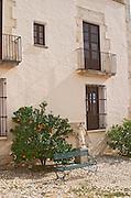Winery building. Can Rafols dels Caus, Avinyonet, Penedes, Catalonia, Spain.