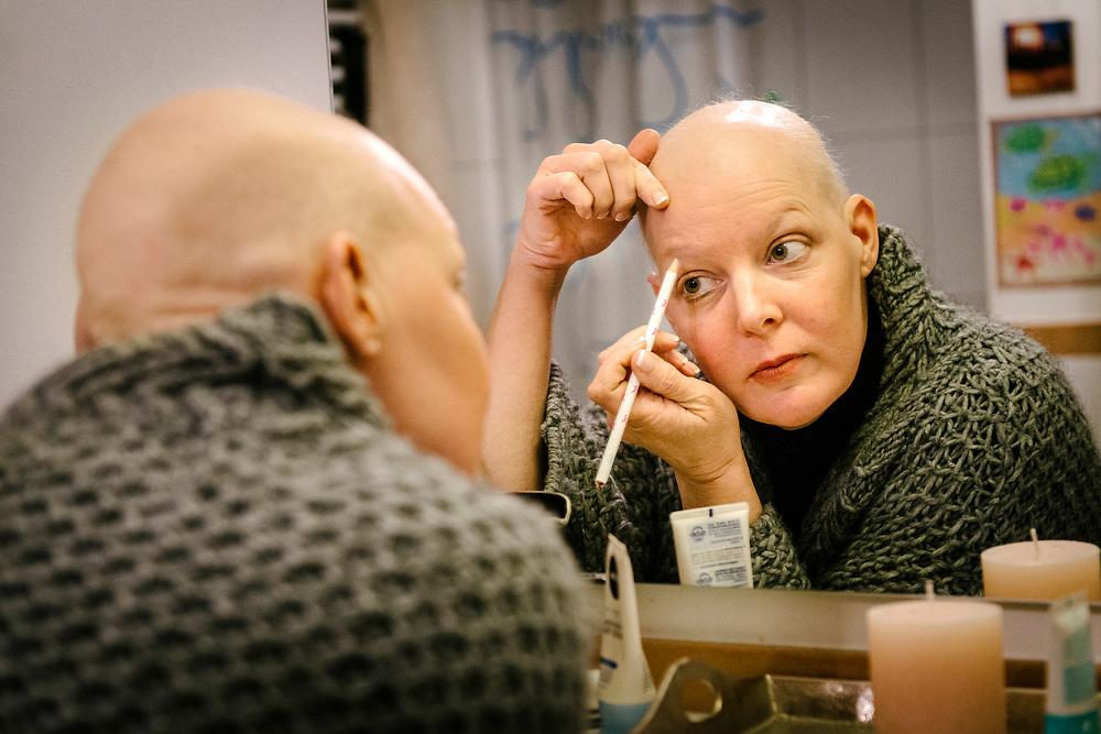 Annette gegen Ende der Chemotherapie