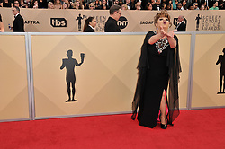 Lin Tucci arrives at the 24th annual Screen Actors Guild Awards at The Shrine Exposition Center on January 21, 2018 in Los Angeles, California. <br /><br />(Photo by Sthanlee Mirador/Sipa USA)
