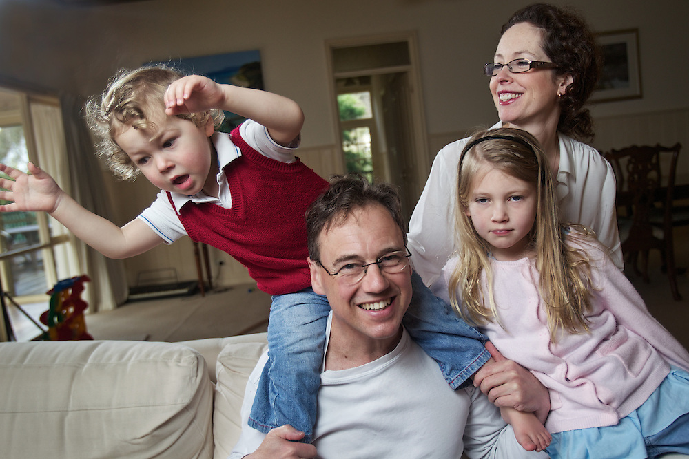 Fathers day is coming for Federal MP Greg Hunt and his family - wife Paula and two children, Poppy 7 and James nearly 3. Pic By Craig Sillitoe CSZ / The Sunday Age.18/08/2012 melbourne photographers, commercial photographers, industrial photographers, corporate photographer, architectural photographers, This photograph can be used for non commercial uses with attribution. Credit: Craig Sillitoe Photography / http://www.csillitoe.com<br /> <br /> It is protected under the Creative Commons Attribution-NonCommercial-ShareAlike 4.0 International License. To view a copy of this license, visit http://creativecommons.org/licenses/by-nc-sa/4.0/.