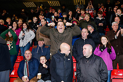 Bristol City fans in the away stand - Photo mandatory by-line: Rogan Thomson/JMP - 07966 386802 - 20/12/2014 - SPORT - FOOTBALL - Crewe, England - Alexandra Stadium - Crewe Alexandra v Bristol City - Sky Bet League 1.