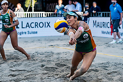 Agatha Bednarczuk BRA in action during the second day of the beach volleyball event King of the Court at Jaarbeursplein on September 10, 2020 in Utrecht.