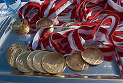 Vienna, AUSTRIA. Winners Medals, ready for presentation. 2009 FISA World Rowing Masters Championships, on the New Danube Rowing Course  Sunday  06/09/2009  [Mandatory Credit. Peter Spurrier/Intersport Images] YOB Year of birth.