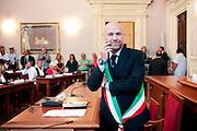 Filippo Nogarin durante il primo consiglio comunale.<br />  Livorno 30 giugno 2014 . Daniele Stefanini /  OneShot
