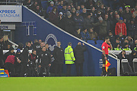 Football - 2018 / 2019 Premier League - Brighton and Hove Albion vs. Leicester City<br /> <br /> James Maddison of Leicester City throws something as he is sent off at The Amex Stadium Brighton <br /> <br /> COLORSPORT/SHAUN BOGGUST
