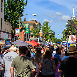 Mechanicsburg, PA, USA - June 21, 2018: A large crowd takes over the downtown during Jubilee Day, the largest, longest running, one-day street fair on the East Coast.
