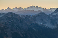 Dome Peak seen from Cutthroat Pass North Cascades Washington