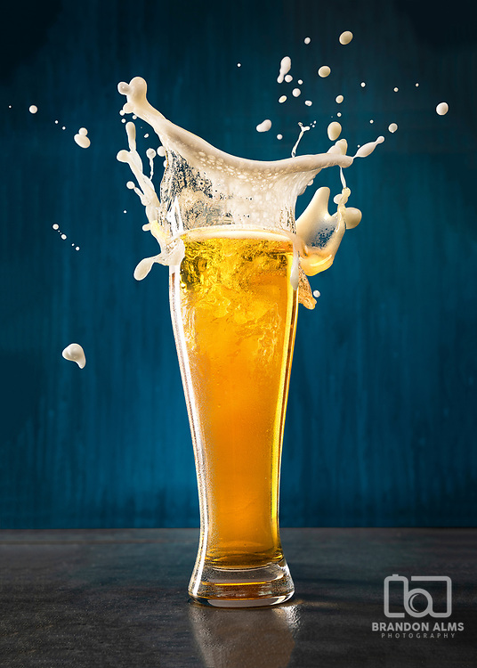 Beer splash photo by Brandon Alms Photography.
