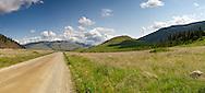 Cosens Bay Road in Kalamalka Lake Provincial Park near Vernon, British Columbia, Canada