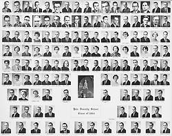 1964 Yale Divinity School Senior Portrait Class Group Photograph