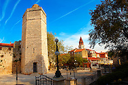 Medieval walls of Zadar, Croatia .<br /> <br /> Visit our MEDIEVAL PHOTO COLLECTIONS for more   photos  to download or buy as prints https://funkystock.photoshelter.com/gallery-collection/Medieval-Middle-Ages-Historic-Places-Arcaeological-Sites-Pictures-Images-of/C0000B5ZA54_WD0s