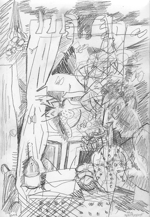 """The Apartment – 5.5""""x8.5"""", Graphite on paper, 2013"""