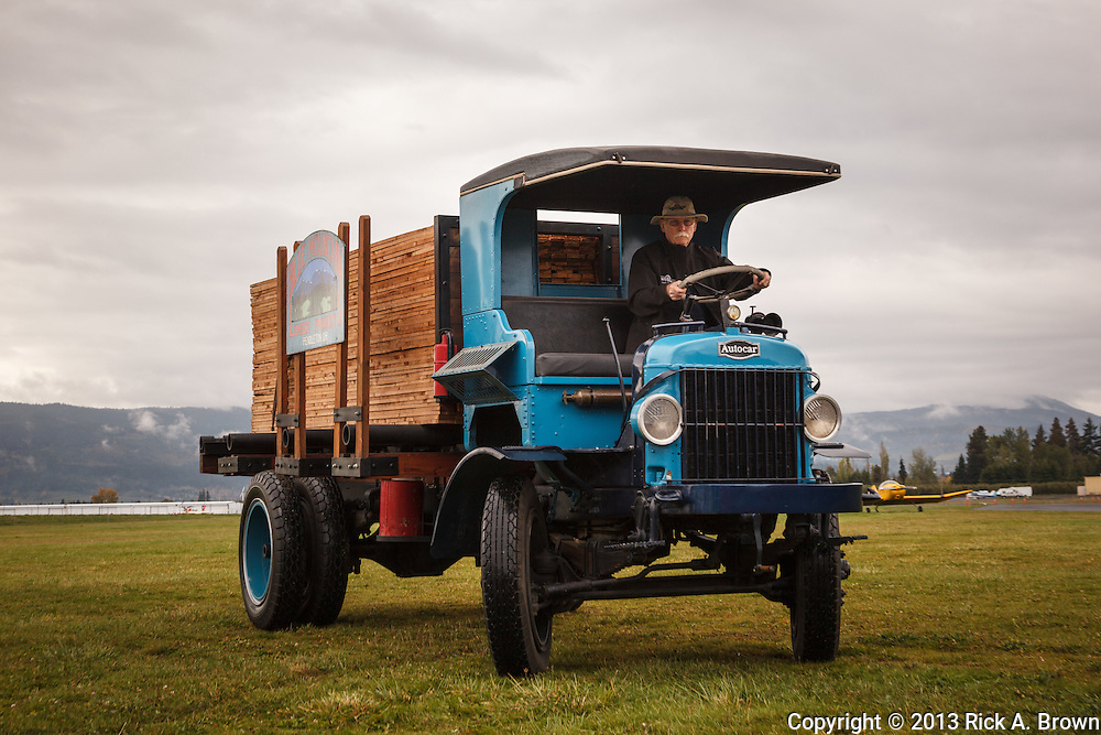 Old Autocar lumber truck at Western Antique Aeroplane and Automobile Museum, Hood River, OR.