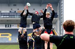 Worcester Warriors U18 practice line outs - Mandatory by-line: Robbie Stephenson/JMP - 22/01/2017 - RUGBY - Sixways Stadium - Worcester, England - Worcester Warriors U18 v Northampton Saints U18 - Premiership Rugby U18 Academy League