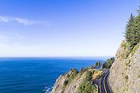 Highway 101 along the Oregon coast near Manzanita, Oregon.