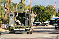 Shooting in San Bernardino.<br /> San Bernardino area SWAT teams set up a south flank to contain the shooters who just engaged them.