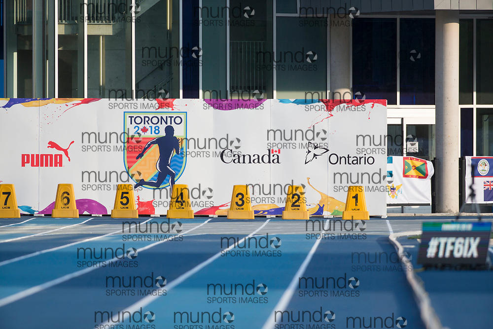 Toronto, ON -- 11 August 2018:  at the 2018 North America, Central America, and Caribbean Athletics Association (NACAC) Track and Field Championships held at Varsity Stadium, Toronto, Canada. (Photo by Sean Burges / Mundo Sport Images).