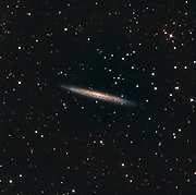 The Knife Edge Galaxy, NGC 5907, in constellation Draco lies about 50 million l.y. from Earth.