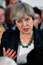 Prime Minister Theresa May speaks at a general election campaign event at the Shine Centre in Leeds.