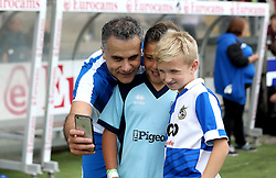 Wael Al-Qadi president of Bristol Rovers FC poses for a selfie with young fans - Mandatory by-line: Robbie Stephenson/JMP - 04/09/2016 - FOOTBALL - Memorial Stadium - Bristol, England - Bristol Rovers Fans v Bristol City Fans - Bristol Fan Derby