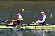 Caversham  Great Britain.<br /> Bow.Fran HOUGHTON and Olivia CARNEGIE-BROWN.<br /> 2016 GBR Rowing Team Olympic Trials GBR Rowing Training Centre, Nr Reading  England.<br /> <br /> Tuesday  22/03/2016 <br /> <br /> [Mandatory Credit; Peter Spurrier/Intersport-images]