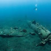 World War 2 Japanese fighter jet the Zero underwater in Papua New Guinea