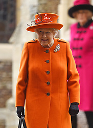 Queen Elizabeth II leaves the Christmas Day morning church service at St Mary Magdalene Church in Sandringham, Norfolk.