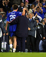 John Terry (Chelsea) is consoled by Manager Claudio Ranieri at the end of the match. Chelsea v Monaco. Champions league semi final 2nd leg. 5/5/2004. <br /> Photo: Andrew Cowie, Digitalsport<br /> NORWAY ONLY