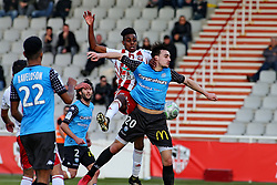 January 27, 2018 - Ajaccio, CORSE, FRANCE - Faiz SELEMANI (ACA) vs Baptiste ETCHEVERRIA  (Credit Image: © Panoramic via ZUMA Press)