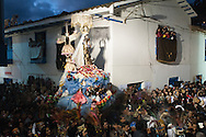 """Feast of """"Mamacha del Carmen"""" of Paucartambo. Despite Paucartambo is not a very large country, the procession takes several hours as they are provided for many stops and the path is tortuous."""