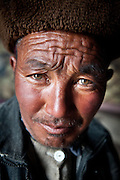 Portrait of Abdul Rahman..Summer camp of Muqur, Er Ali Boi's place...Trekking through the high altitude plateau of the Little Pamir mountains (average 4200 meters) , where the Afghan Kyrgyz community live all year, on the borders of China, Tajikistan and Pakistan.