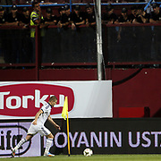 Fenerbahce's Caner Erkin during their Turkish SuperLeague Derby match Trabzonspor between Fenerbahce at the Avni Aker Stadium at Trabzon Turkey on Sunday, 14 September 2014. Photo by Aykut AKICI/TURKPIX