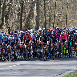 25-03-2021: Wielrennen: Classic Brugge - De Panne Women: De Panne<br />Peloton onderweg in de Panne