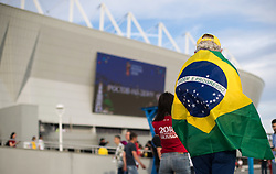 June 17, 2018 - Rostov Do Don, Rússia - ROSTOV DO DON, RO - 17.06.2018: BRAZIL VS SWITZERLAND - Swiss and Brazilian fans arrive for a match between Brazil and Switzerland valid for the first round of group E of the 2018 World Cup, held at the Rostov Arena in Rostov on Don, Russia. (Credit Image: © Marcelo Machado De Melo/Fotoarena via ZUMA Press)