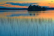 Sunset reflection on Lac des Sables<br />Belleterre<br />Quebec<br />Canada