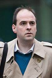 January 3, 2018 - London, London, UK - London, UK. RICHARD HOLDEN, former special adviser to Michael Fallon arrives at Southwark Crown Court in London. Richard Holden allegedly attacked a woman in her 20s at a party in London in December 2016. The 32-year-old from south-east London denies a count of sexual assault. (Credit Image: © Vickie Flores/London News Pictures via ZUMA Wire)