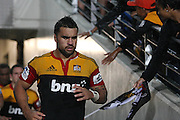 Chiefs Captain Liam Messam, runs out of the tunnel for the start of the second half during the Investec Super 15 Rugby match, Chiefs v Blues, at Waikato Stadium, Hamilton, New Zealand, Saturday 26 March 2011. Photo: Dion Mellow/photosport.co.nz