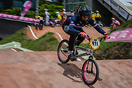 #971 (VALENTINO Manon) FRA at the 2016 UCI BMX World Championships in Medellin, Colombia.
