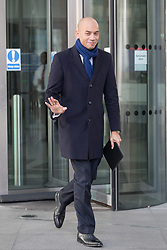 © Licensed to London News Pictures. 11/02/2018. London, UK. Chuka Umunna MP leaving BBC Broadcasting House after appearing on the Andrew Marr Show. Photo credit: Vickie Flores/LNP