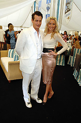 MATTHEW MELLON and NOELLE RENO at the Cartier International polo at Guards Polo Club, Windsor Great Park on 29th July 2007.<br /><br />NON EXCLUSIVE - WORLD RIGHTS