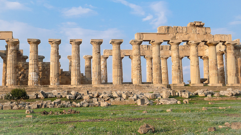 Selinunte was one of the most important of the Greek colonies in Sicily, situated on the southwest coast of that island, at the mouth of the small river of the same name, and 6.5 km west of that of the Hypsas (the modern Belice River). Source: Wikipedia